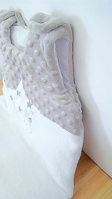 Gigoteuse bébé étoile grise et blanche
