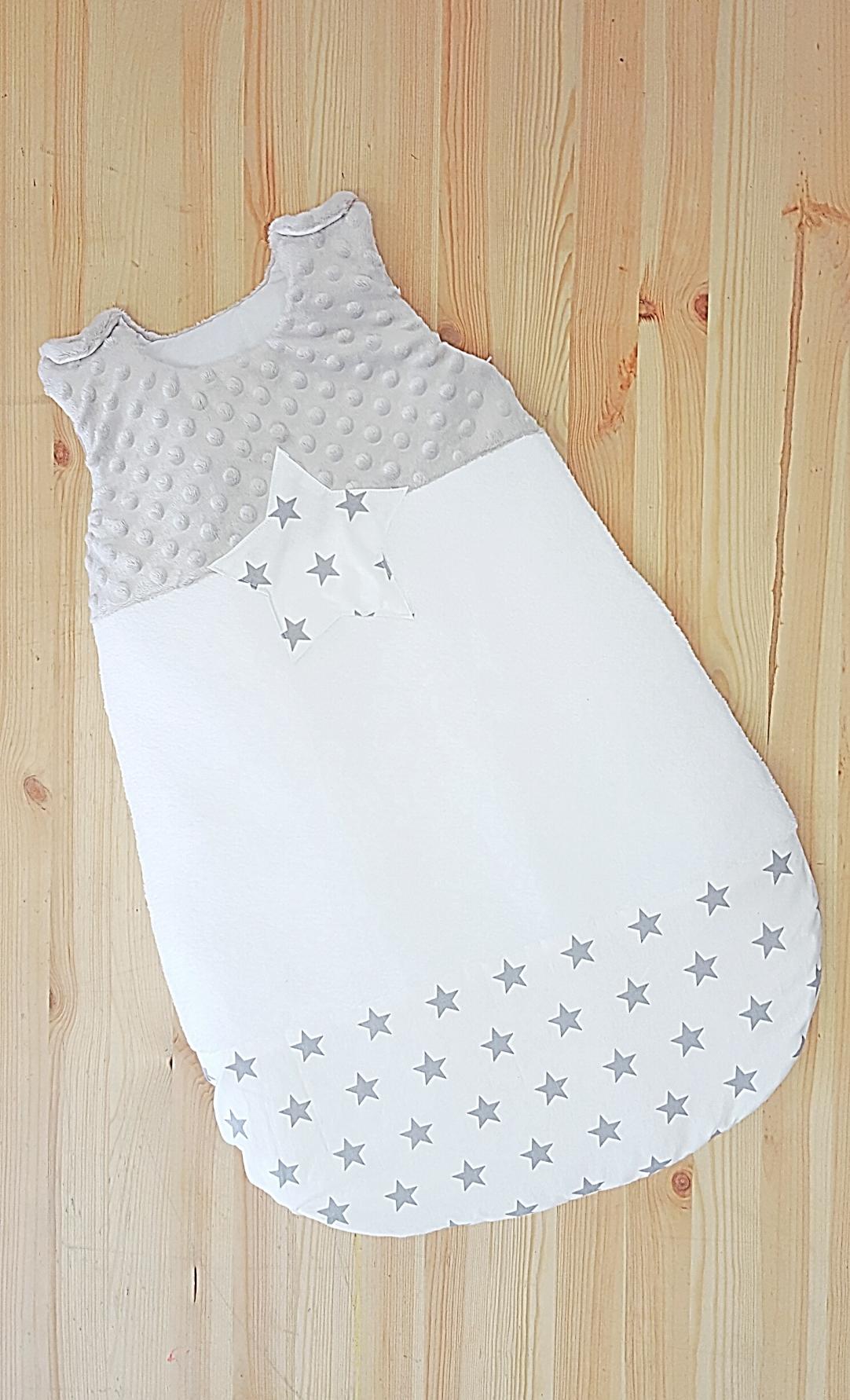 Gigoteuse bébé mixte grise et blanc