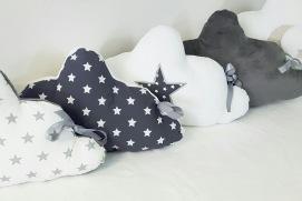 Tour de lit nuage étoile gris et blanc - linge de lit bébé