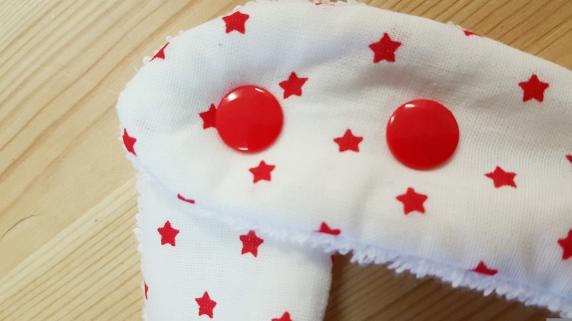 bavoir bandana bébé garçon étoile rouge blanc - accessoire mode bébé garçon