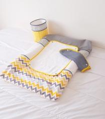 Décoration de chambre bébé tissus designer américain chevron et triangle