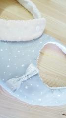 Duo de bavoir bébé fille rose, gris et argent - Accessoire de mode bébé fille
