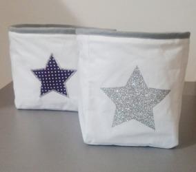 Duo de panière étoile argenté