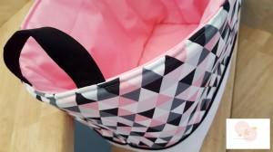 Décoration de chambre bébé et enfant- Liste de naissance- Cadeau de naissance- Cadeau de baptème- sac en tissus- Corbeille en tissus