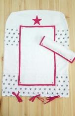 Housse de matelas à langer rose et blanc étoile-- décoration de chambre bébé fille