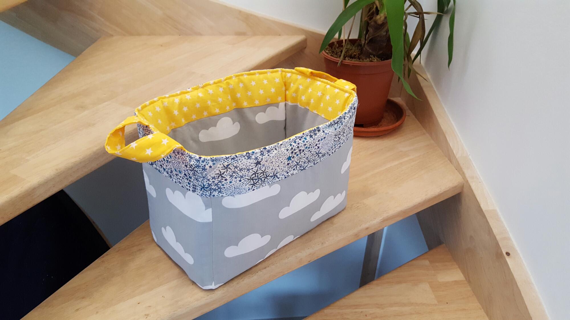 Les pani res de rangements lilye co for Tissu pour chambre bebe