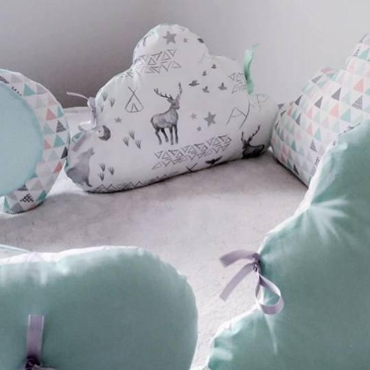 Tour de lit bébé éléphant et cerf