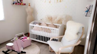 Tour de lit bébé fille, inspiration scandinave